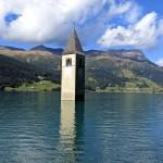 Reschensee und Grauner Kirchturm