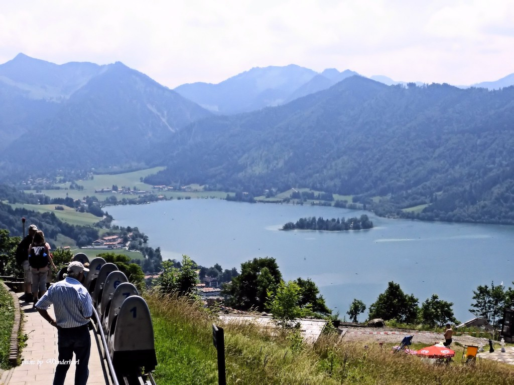 Aussicht von Schliersbergalm auf den Schliersee
