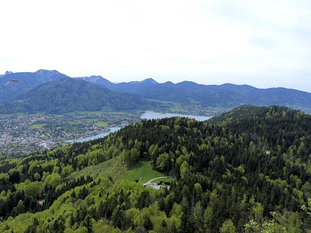 Ausblick von der Riedersteinkapelle 1207 m oberhalb Tegernsee