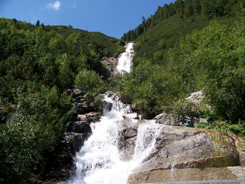 Wasserfall bei Schlegeisstausee