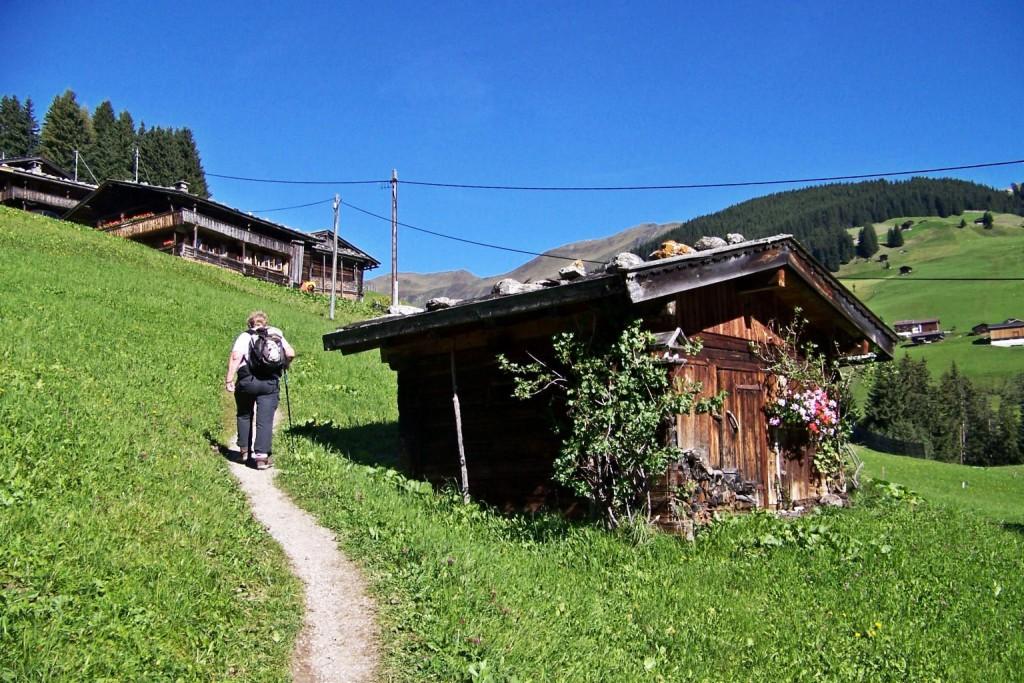 Wanderweg in Lanersbach