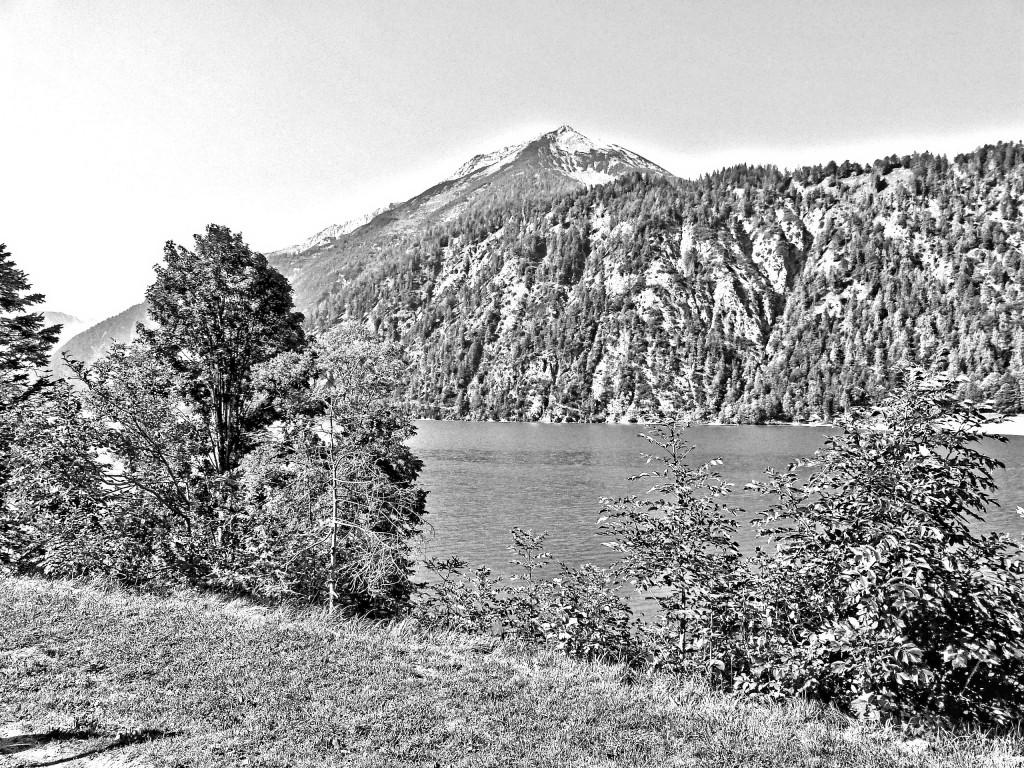 Achensee schwarz weiß