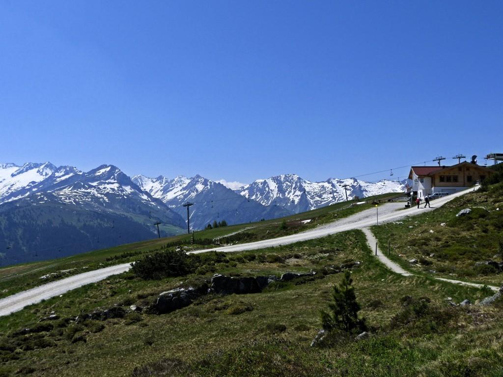 Ausblick in Hohe Tauerngebirge