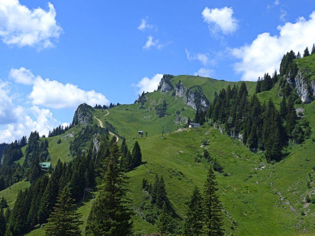 Umgebung von der Tölzer Ski-Hütte auf Brauneck.