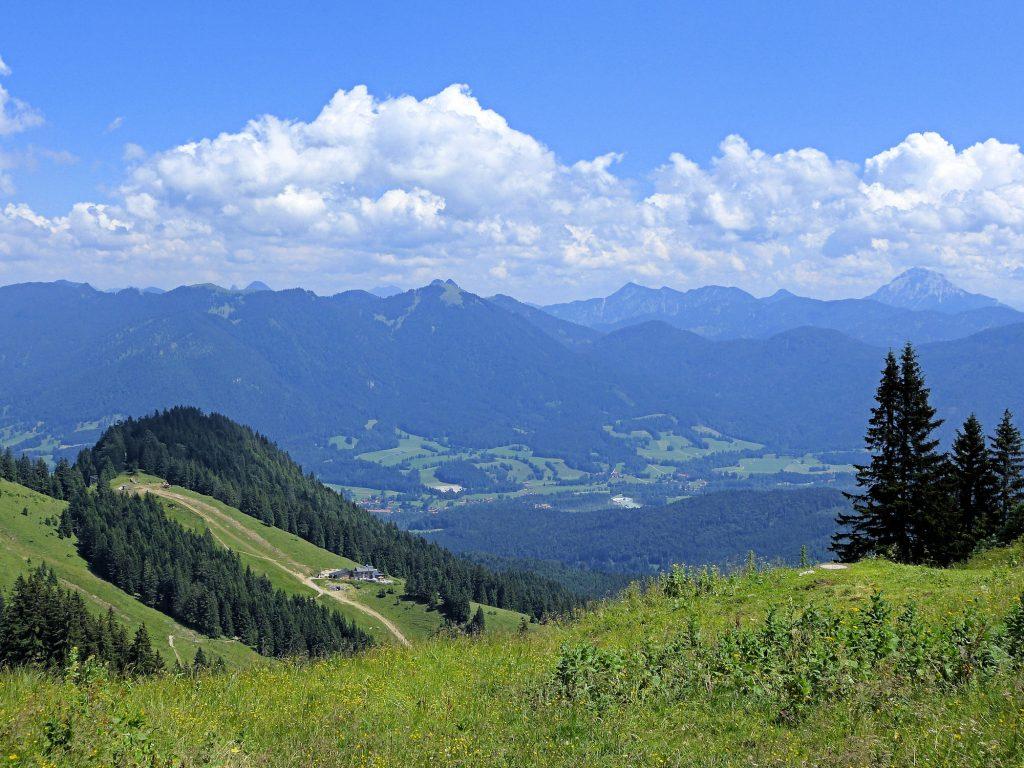 Aussicht von der Tölzer Ski-Hütte